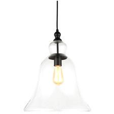 Rustic Iron & Glass Pendant Light