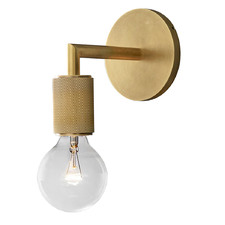 Clear & Gold Travis Wall Light