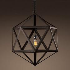 Steel Polyhedron Pendant