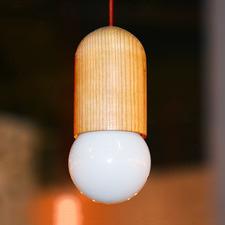 Replica Capsule Wood Pendant Light