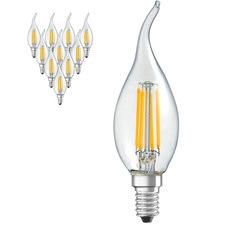 4W E14 C35 Flame Warm White LED Bulbs (Set of 10)