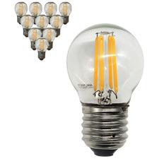 4W G45 Filament LED E27 Bulbs (Set of 10)