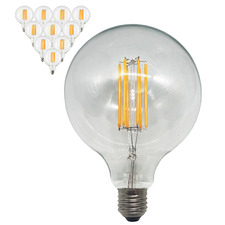 6W G125 Filament LED E27 Bulbs (Set of 10)