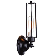 Black Harvey Caged Wall Sconce