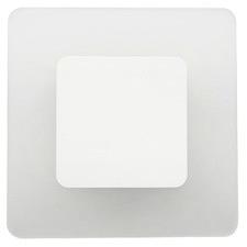 White Leticia Square 12W Wall Light