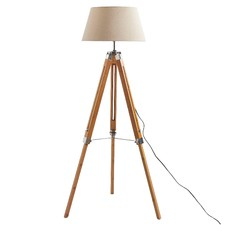 Yolanda Natural Large Tripod Floor Lamp