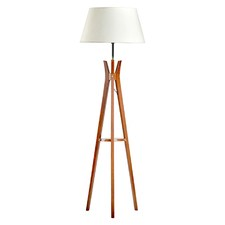 Cherry Bamboo Tripod Floor Lamp