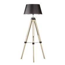 Pine Wood Tripod Floor Lamp