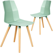 Light Green Nova Dining Chairs (Set of 2)