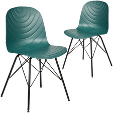 Dark Green Eames Replica Dining Chairs (Set of 2)