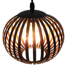 Black Round LED Hanging Lantern