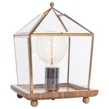 Aquare Bamboo & Glass Table Lamp