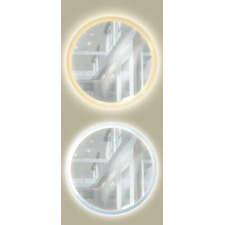 R Range Round Backlit Mirror without Border