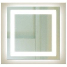 SQ Range Square Backlit Mirror with Border
