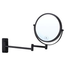 Matte Black Round Shaving Mirror