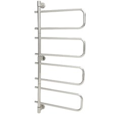 Silver Thermorail Swivel Towel Rail