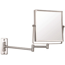 Chrome Wall Mounted Shaving Mirror