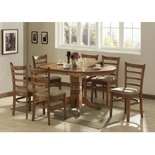 Mustang Extensive Dining Table and 4 Mustang Chairs Set