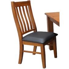Max Upholstered Pine Wood Chair