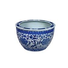 China Blue Ornate Porcelain Bowl