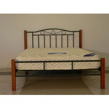 Sweetdream Metal Bed with Timber Post