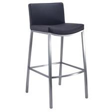 Brazil Stainless Steel & Polyurethane Barstool with Backrest