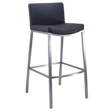 Rio Stainless Steel & Polyurethane Bar Stool with Backrest