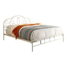 Antique Ivory Metal Harper Bed