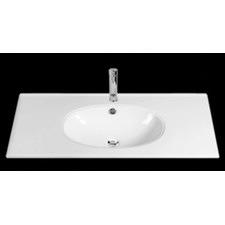 Rondo 900mm Round Top Basin in White