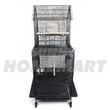 Large Indoor Bird Budgie Parrot Wire Cage Portable Aviary Perch on Wheels