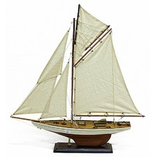 Three Lined Sails Yachts Trawlers Wooden Sailing Boat