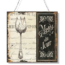 Tin Plate Menu Du Jour Wall Art