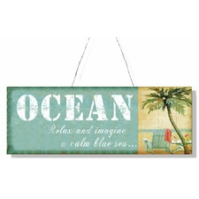 Tin Plaque Ocean Wall Art