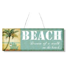 Tin Plaque Beach Wall Art