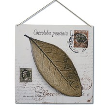 One Leaf Tin Wall Hanger Wall Art