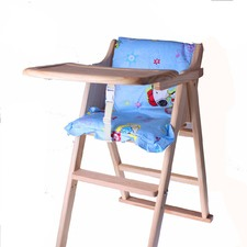 Wooden Foldable Baby High Chair