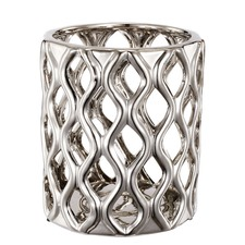 Chromed Lattice Vase