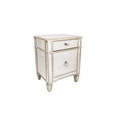 Sara 1 Door Mirrored Bedside Table