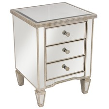 Sara Ribbed 3 Drawer Bedside Table