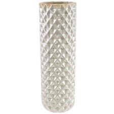 Pearlescent Faceted Ceramic Vase