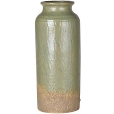 Antique Green Slender Ceramic Vase