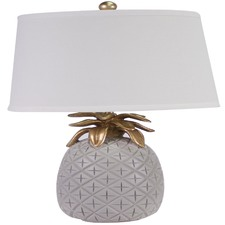 Pale Grey Pineapple Table Lamp