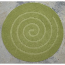 Swirl Green Rug