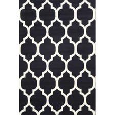 Black & White Qua Morgan Lattice Rug