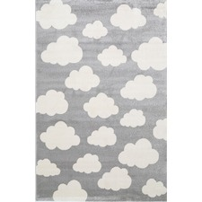 Grey Piccolo Clouded Rug