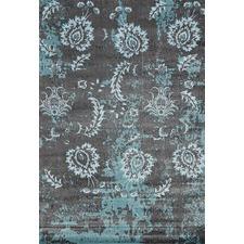 Grey Usma Aqua Silk Rug
