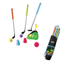 Golf Club Bag and Hole Set
