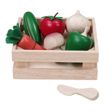 Wooden Vegetable Basket Toy