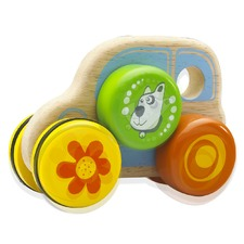 Puppy Car Wooden Toy