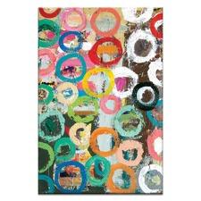 Coloured Circles Canvas Wall Art